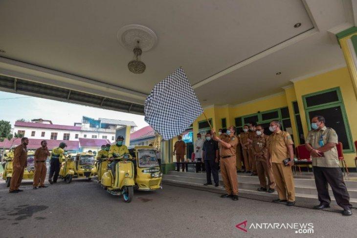 Becak kuning dukung pariwisata Padangsidimpuan
