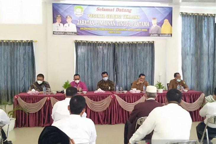 26 calon kadis di Abdya ikut seleksi jabatan tinggi pratama