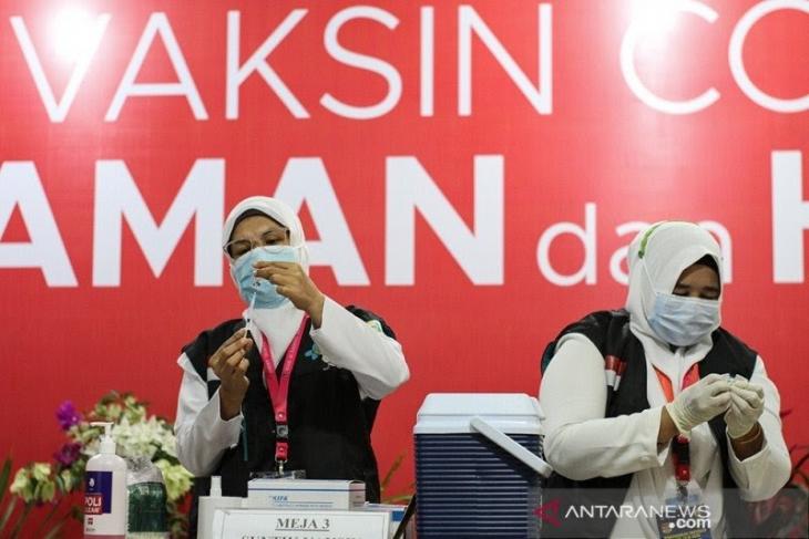 128 calon jamaah haji lansia di Pidie, Aceh sukses menjalani vaksinasi