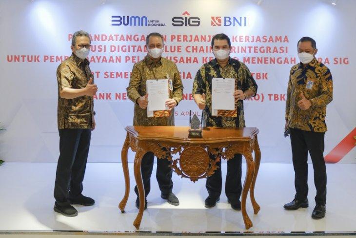 SIG dan BNI jalin kerja sama solusi digital value chain