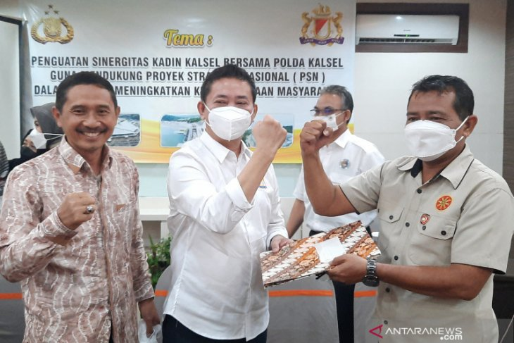 S Kalimantan Police, Kadin work together to oversee national strategic project