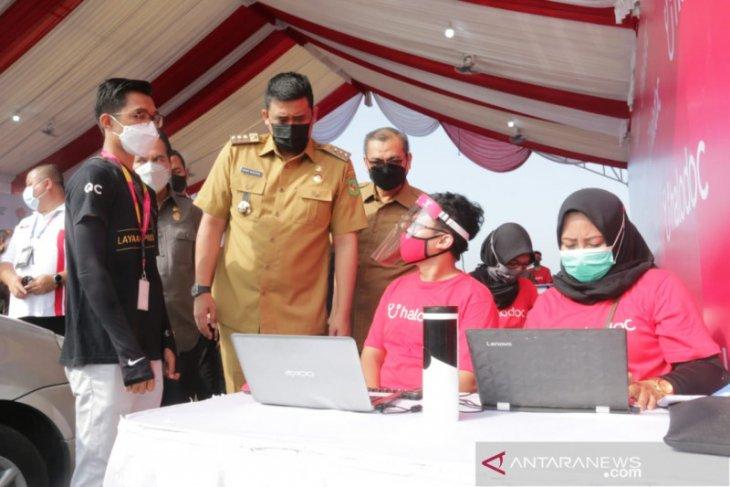 Panglima TNI dan Kapolri hadiri vaksinasi di Medan