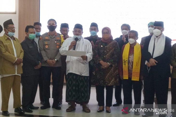Bupati Bogor dan tokoh lintas agama deklarasi tangkal terorisme (video)
