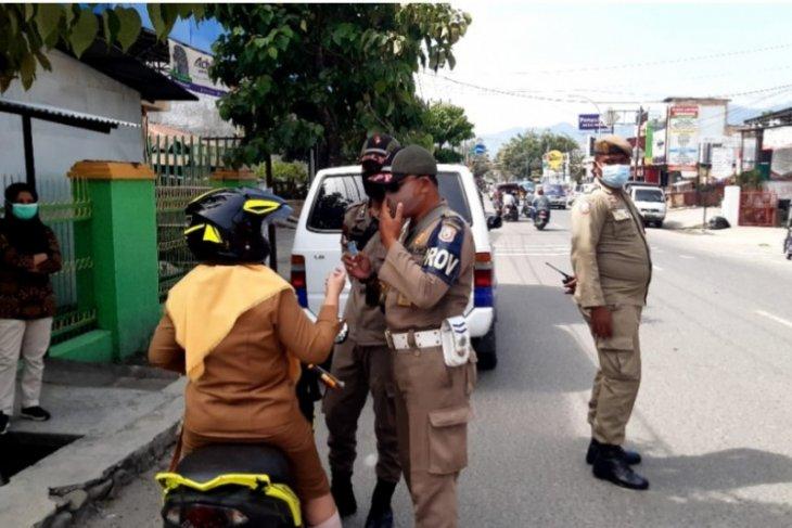 19 orang terjaring razia penegakan protokol kesehatan di Gorontalo