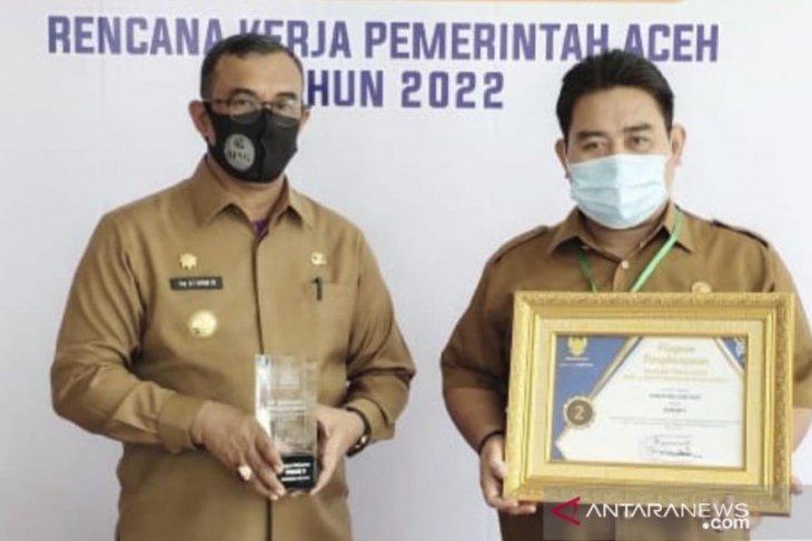 Aceh Jaya terbaik kedua kategori perencanaan anugerah AMI 2021