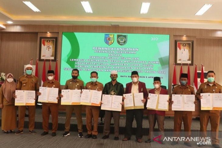 Bupati Batubara secara resmi tutup KKN Mahasiswa UISU