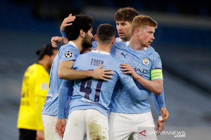 Liga Champions: Manchester City vs Dortmund 2-1, gol menit akhir Foden jadi penentu