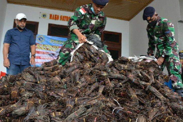 Patroli Lantamal gagalkan penyelundupan 984,6 kg vanili ilegal asal PNG