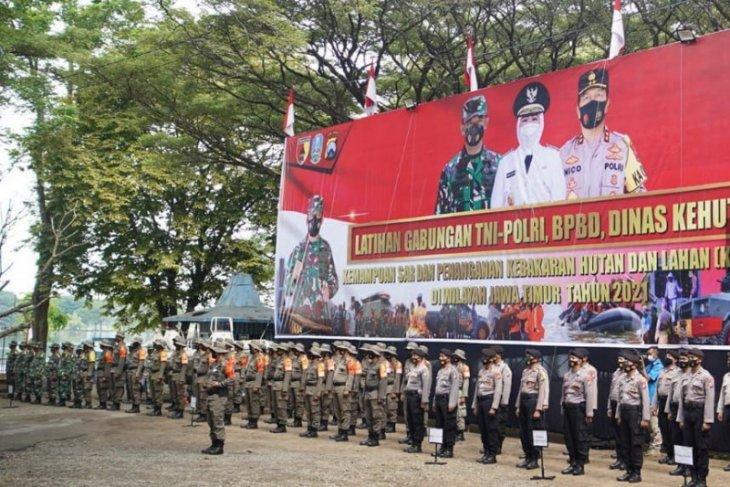 Polda Jatim gelar latihan gabungan kesiapsiagaan bencana di Madiun