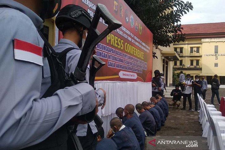 Aceh police seize 50 kg drugs, arrest four