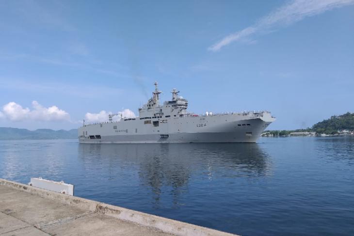 Dua kapal perang Prancis berlabuh di Dermaga Sabang, ada apa?