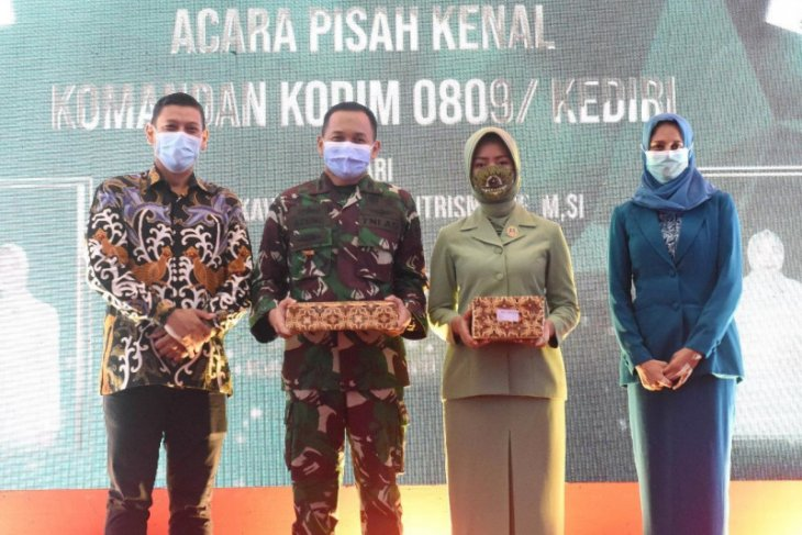 Wali Kota Kediri hadiri pisah sambut Dandim 0809
