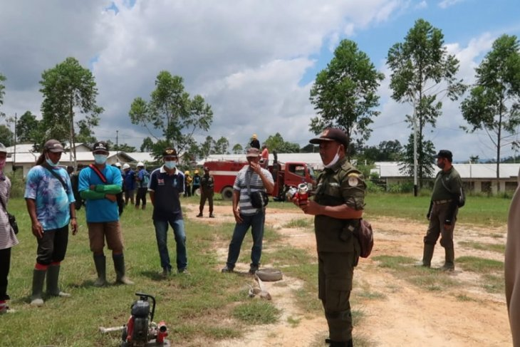 Kencana Group gelar sosialisasi dan pelatihan terkat Karhutla di perbatasan
