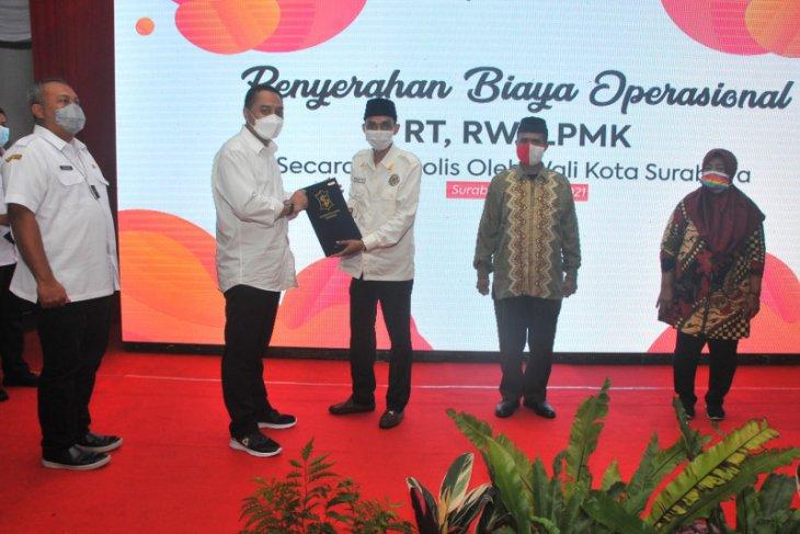Insentif ketua RT/RW/LPMK se-Kota Surabaya naik 100 Persen