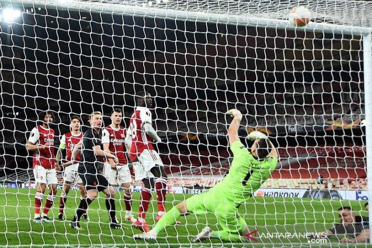 Liga Europa: Arsenal ditahan Slavia Praha 1-1 pada leg pertama