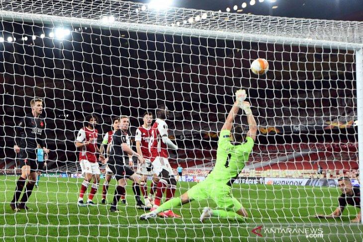 Arsenal diimbangi Slavia Praha 1-1 dalam leg pertama
