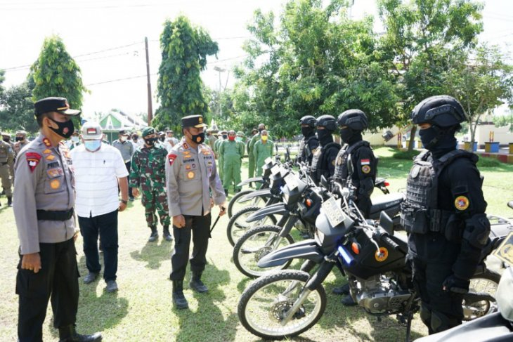 Kapolda Malut pimpin apel pasukan pengamanan PSU di Halmahera Utara