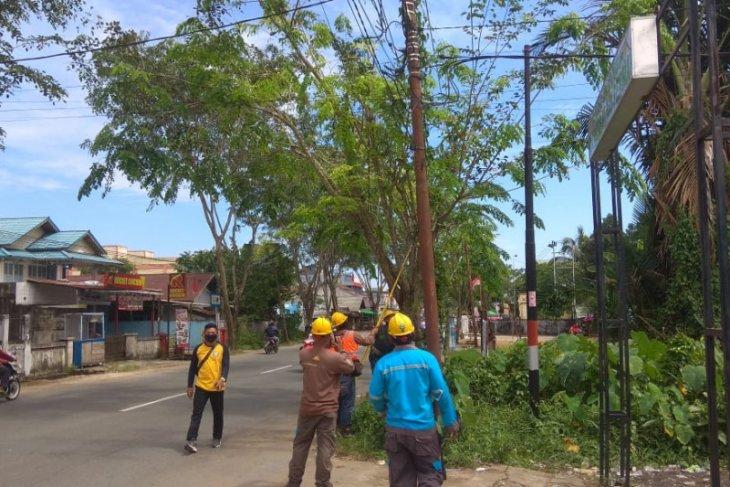 PLN dan Pemkot Pontianak pangkas pohon cegah potensi gangguan listrik