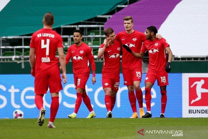 Liga Jerman, Leipzig pangkas jarak dari puncak seusai gebuk Bremen 4-1