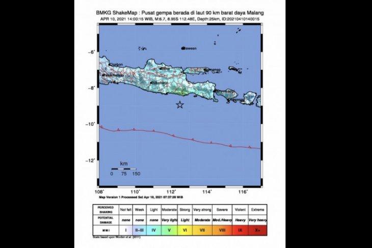 Quake rocks Malang, E Java; no tsunami warning issued