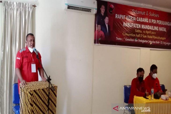 Rakercab PDIP Madina, dukungan kepada Dahlan - Aswin garis lurus