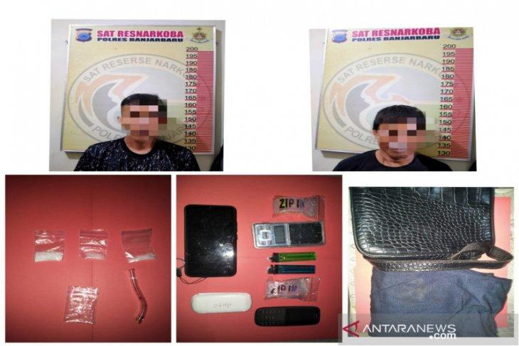 Satresnarkoba Banjarbaru tangkap empat pengedar sita 30 gram sabu-sabu