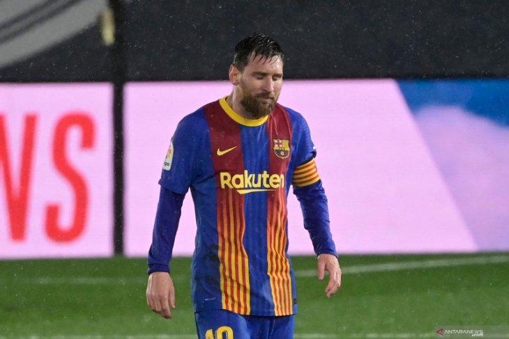 Barcelona kalah,  Lionel Messi alami puasa gol terlama di El Clasico