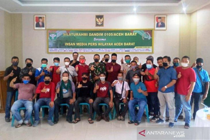 Gelar silaturahmi bersama wartawan, begini kata Dandim 0105 Aceh barat