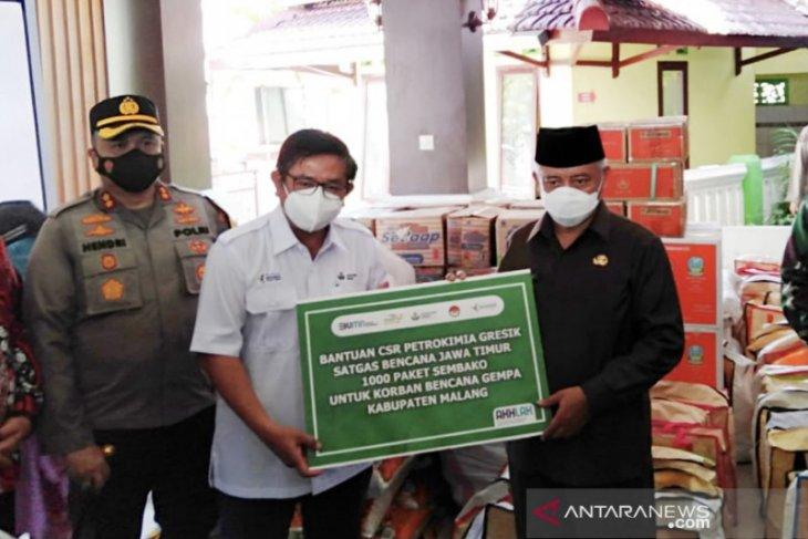 Petrokimia Gresik salurkan bantuan bagi korban gempa di Malang