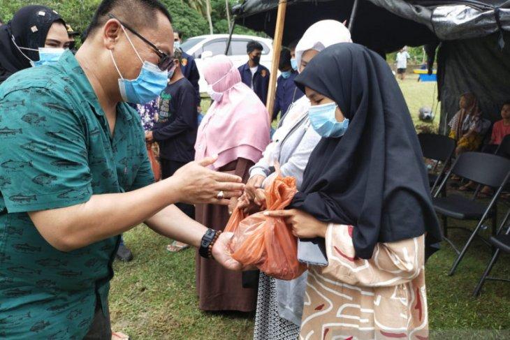 Polres bantu daging meugang untuk yatim piatu dan mualaf di Simeulue