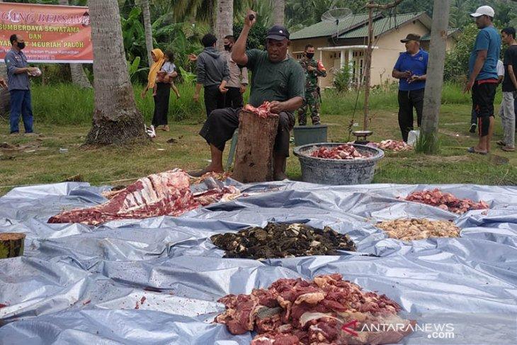 Ratusan warga Lhokseumawe dapat bantuan daging meugang