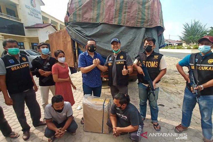 Polisi tangkap truk bermuatan rokok ilegal di Aceh Tamiang