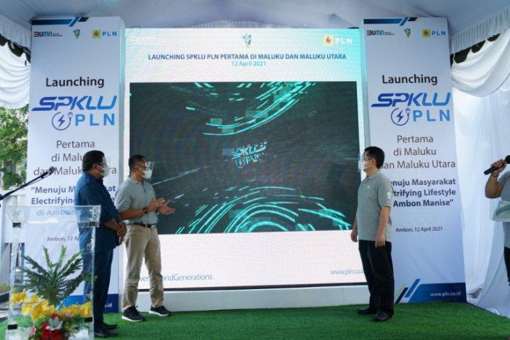 PLN luncurkan SPKLU pertama di Maluku -  Malut