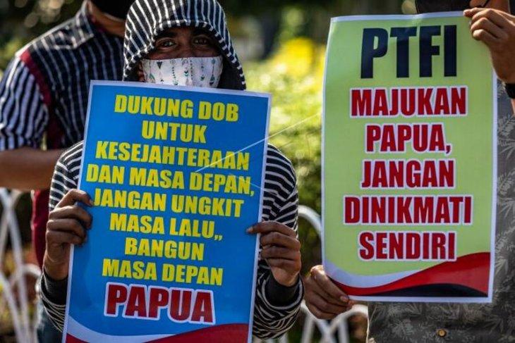 Aksi damai mahasiswa Papua