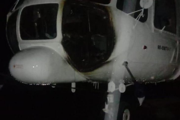Sempat dibakar KKB, helikopter PT Ersa Air diterbangkan ke Timika