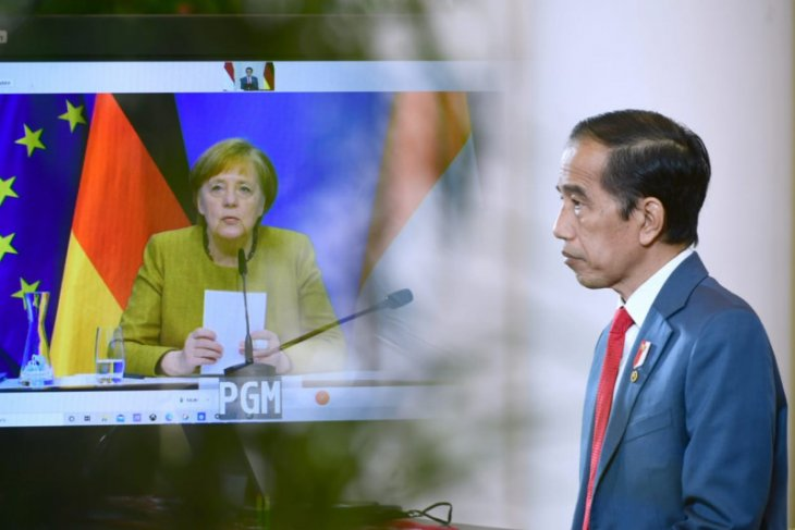 President Jokowi, Chancellor Merkel hold virtual bilateral talks