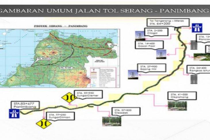 Ruas Tol Serang-Panimbang Seksi 1 dipastikan selesai April 2021