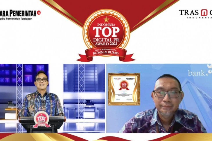 Bank Kalsel raih penghargaan Indonesia TOP digital PR Award 2021