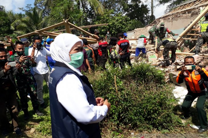 Gubernur Khofifah minta warga ikut validasi kerusakan bangunan terdampak gempa