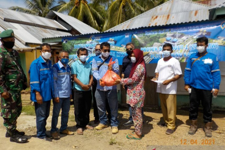 PT Gorontalo Listrik Perdana salurkan paket bantuan Ramadhan di Gorut