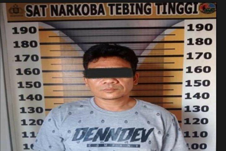 Seorang bandar narkoba dibekuk Satresnarkoba Polres Tebing Tinggi