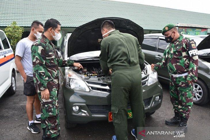 Kendaraan dinas Korem 023/KS diperiksa