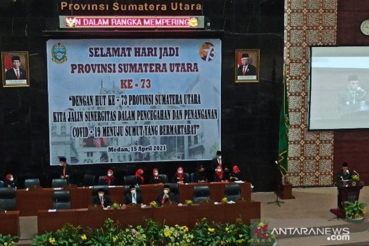 Edy Rahmayadi paparkan sejumlah capaian di Paripurna DPRD Sumut