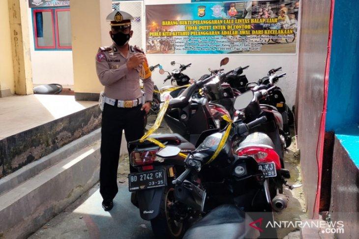 Polres Rejang Lebong amankan sepeda motor peserta balap liar