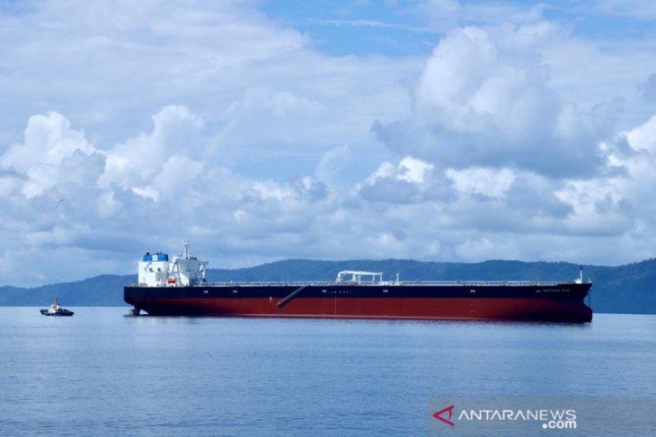 Kapal tanker raksasa milik Pertamina tiba di Indonesia