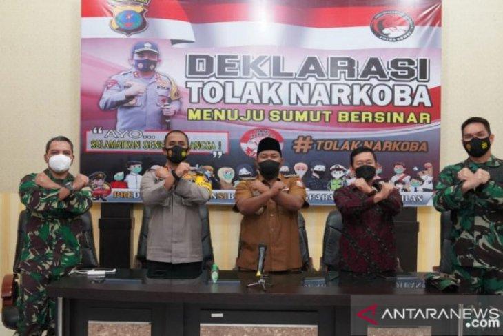 Forkopimda Tanjungbalai deklarasi tolak narkoba menuju