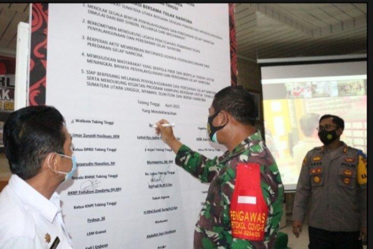 Deklarasi tolak narkoba menuju Sumut bersinar di Polres Tebing Tinggi