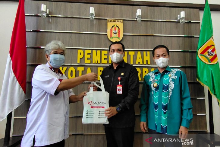 LKBN Antara Biro Kalsel berkunjung ke kantor Pemko Banjarbaru