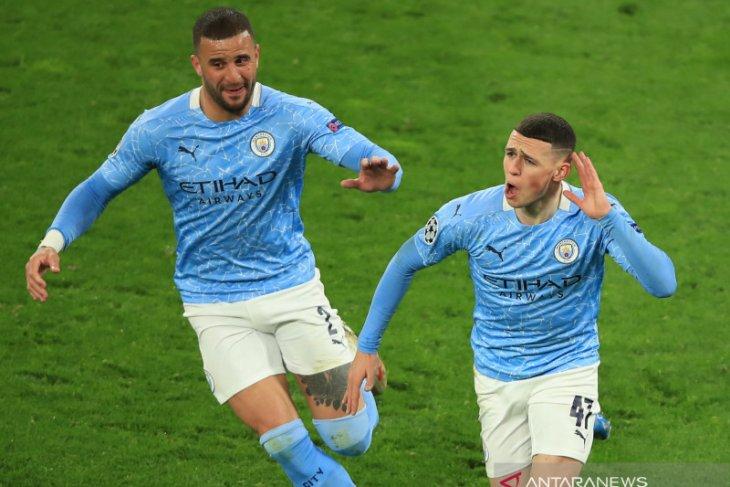 Manchester City melenggang ke semifinal Liga Champions