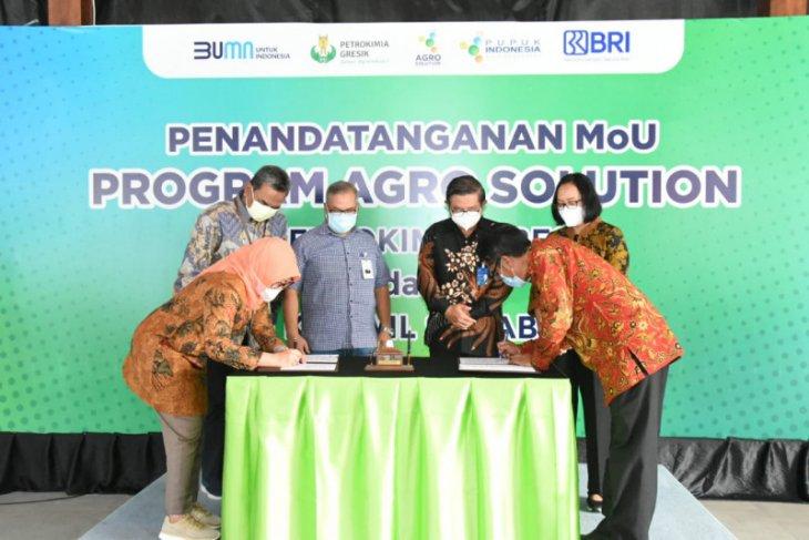 Petrokimia Gresik gandeng BRI Kanwil Surabaya jamin akses permodalan petani